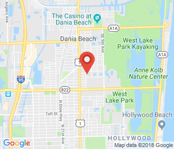 Google map image of location 1025 SE 2nd Ave, Dania Beach, FL 33004, USA